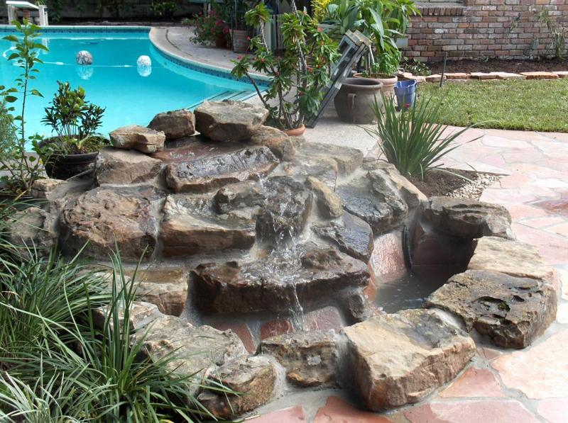 katy texas water features pond design stevens landscaping services