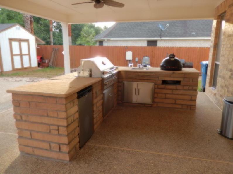 Outdoor Stone Kitchens Backyard Bars In Houston Tx Stevens