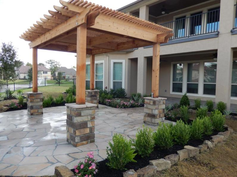 Porch Columns, Benches & Stone Sitting Walls Houston TX ...