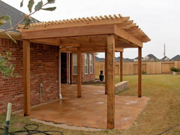 Wood Pergola Trellis Amp Lattice Panel Design Amp Installation Houston Tx From Stevens Landscaping