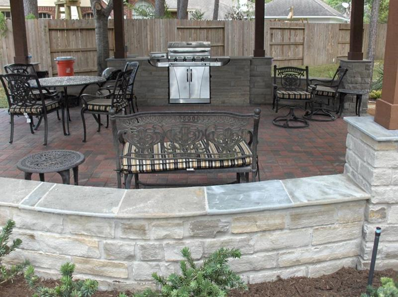 Porch Columns Benches Amp Stone Sitting Walls Houston Tx