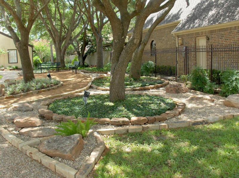 rock borders stevens landscaping services. Black Bedroom Furniture Sets. Home Design Ideas