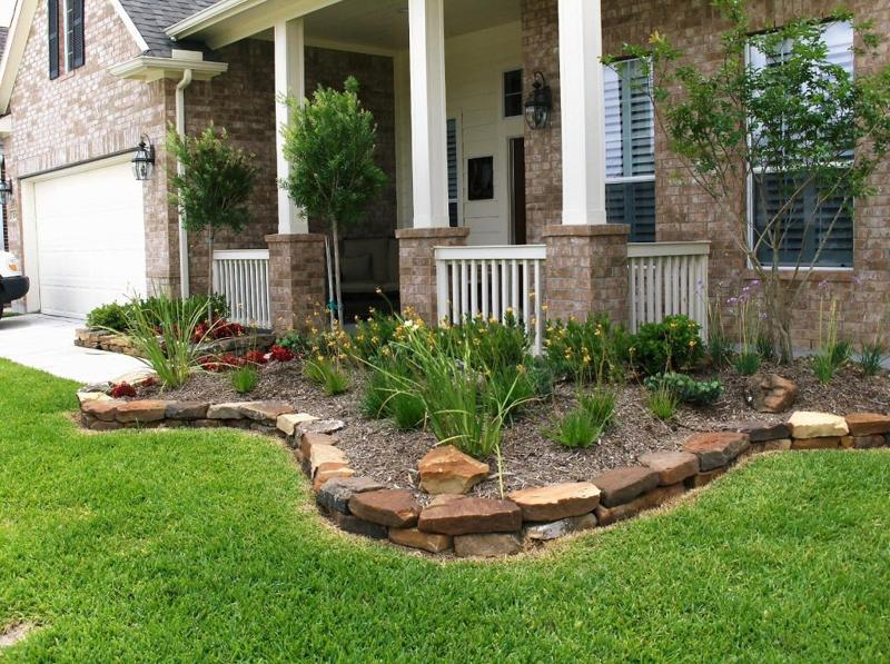 Katy Texas Rock Borders Amp Stone Borders Stevens Landscaping Services