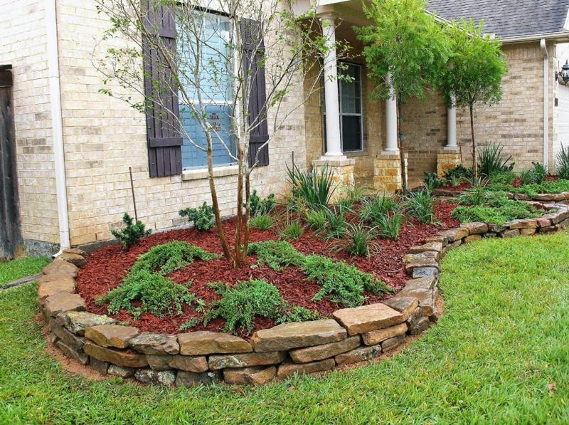 Rock borders stevens landscaping services for Small red rocks for landscaping